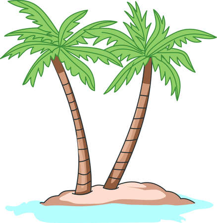 Relaxing under the palm tree is a wonderful way to spend a vacation.  A perfect image from Great Notions for your next cruise. 版權商用圖片 - 45001168