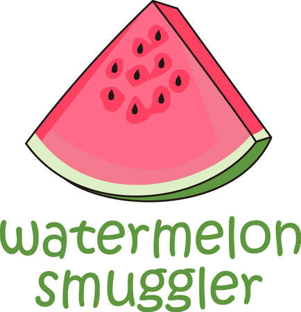 Enjoy this watermelon on a summer picnic.  Everyone will love it! 向量圖像