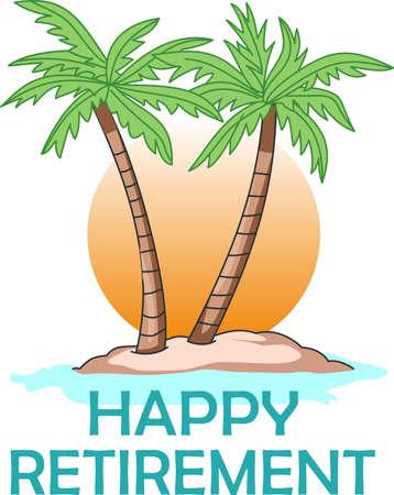 Ontspannen onder de palmboom is een prachtige manier om een vakantie door te brengen. Een perfect beeld van Great Notions voor uw volgende cruise. Stock Illustratie