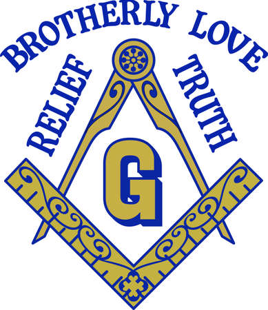 symbol: The symbol represents freemasonry.  It stands for faith, hope and charity.  Add this design to a gift to a Master Mason.  Get these designs from Great Notions.