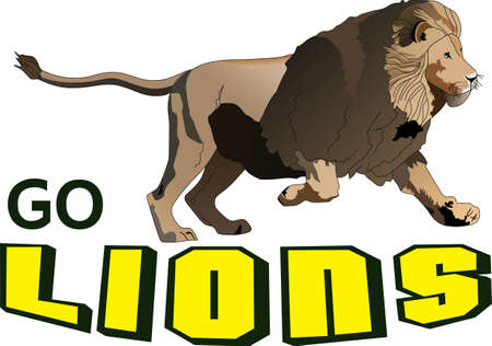 nfl: This adorable little lion is perfect for your classroom.  Include this lion when decorating.  The students will love it! Illustration