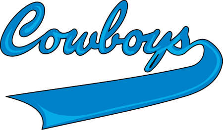 team spirit: Show your team spirit with this Cowboys logo.