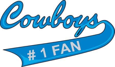 team spirit: Show your team spirit with this Cowboys logo.