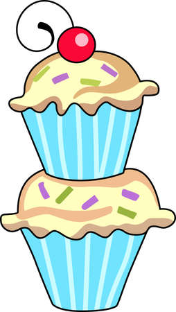 Give this cupcake to a girl to remember her birthday all year long.  Illustration