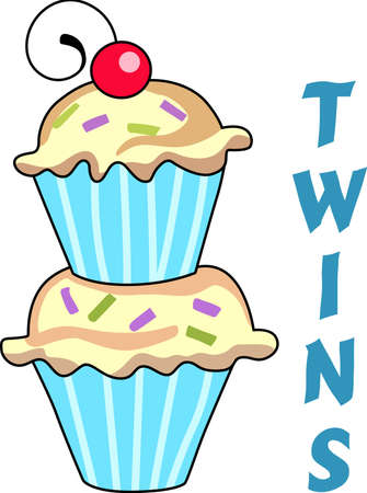 Give this cupcake to a girl to remember her birthday all year long.  She will love it! Illustration