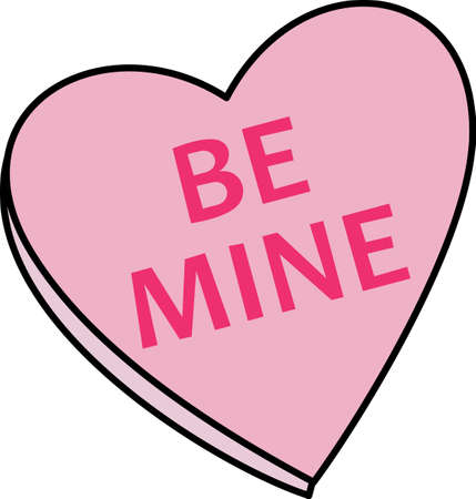 be mine: Send a love note to your loved one.