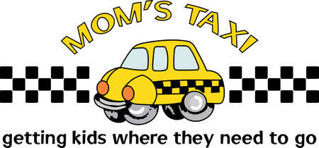 The worlds best taxi driver is a cute design from Great Notions.