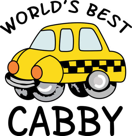 taxicab: The worlds best taxi driver is a cute design from Great Notions.  They will love it!