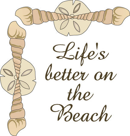 This cute little shell border is perfect to take to the beach or perfect for childs room.