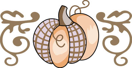 gourds: Gourds, pumpkins and other vegetables are perfect fall decorations.  Illustration