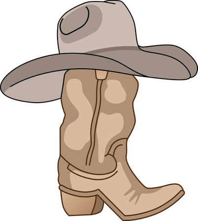 Grab your boots and cowboy hat and head to the rodeo. Dont forget to give this adorable design for your favorite cowboy.  He will love it! Vettoriali