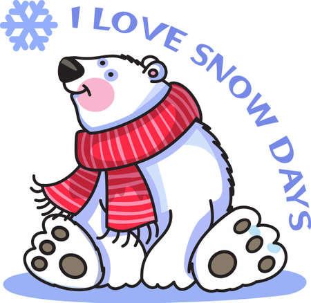 This beautiful snowflake and polar bear is a perfect design for this winter.
