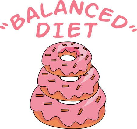 balanced: This is my kind of balanced food pyramid.