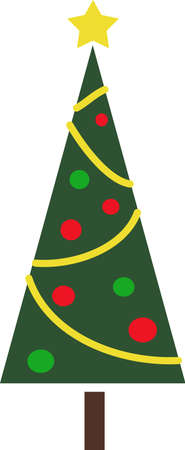 Send holiday cheers with these beautiful Christmas trees. Pick those designs by Great Notions! Ilustração