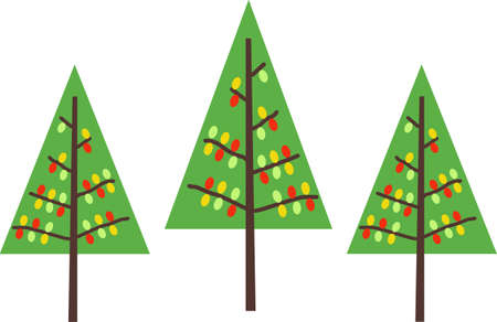 Send holiday cheers with these beautiful Christmas trees. Pick those designs by Great Notions! Çizim