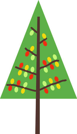 conifers: Send holiday cheers with these beautiful Christmas trees. Pick those designs by Great Notions! Illustration