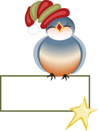 bluebird: Send holiday cheers with these beautiful Christmas bluebird. Pick those designs by Great Notions!