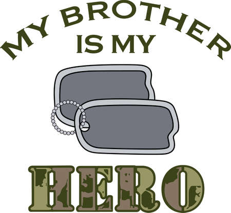 Let them know you are proud of your military hero.  Show support for our troops with this special design.