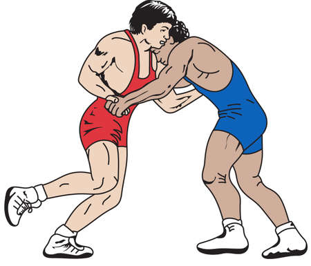 greco: Wrestling is a very active sport taking years to master.  This is a wonderful design they  will love it. Illustration