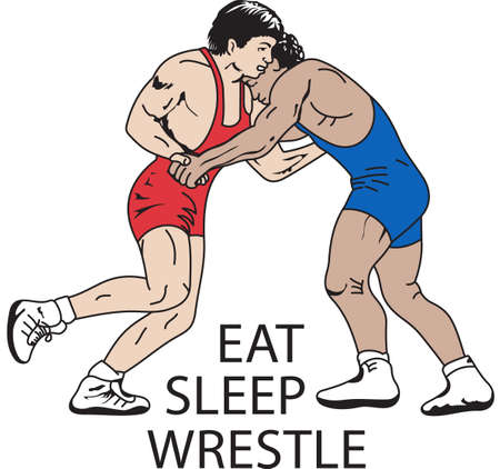 love very: Wrestling is a very active sport taking years to master.  This is a wonderful design they  will love it. Illustration