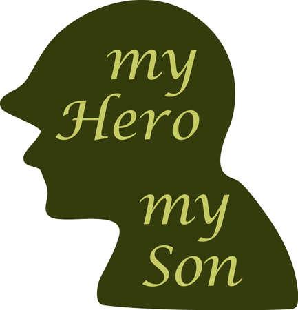 Laat hen weten dat u trots op uw militaire held zijn. Toon steun voor onze troepen met dit speciale ontwerp. Stockfoto - 45026102