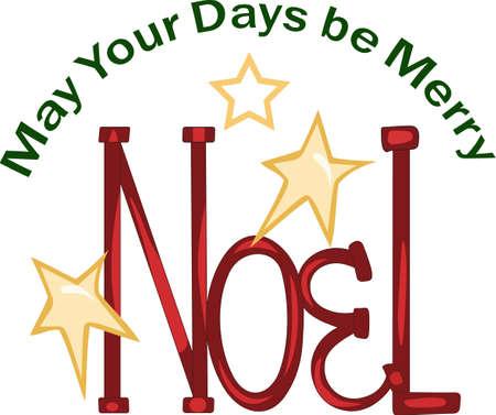 Verzend wat Kerstmis toejuichen met dit Noel.