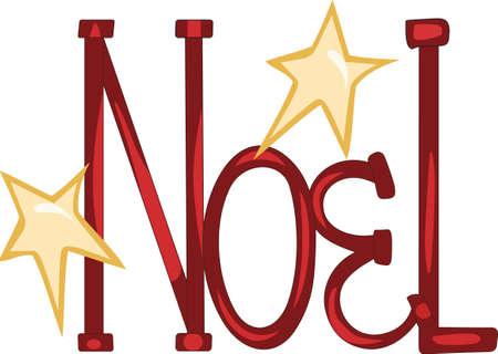 このノエルといくつかのクリスマスのごちそうを送信します。  イラスト・ベクター素材
