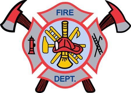 消防士は、他人のために命を危険に毎日忙しく働きます。  イラスト・ベクター素材