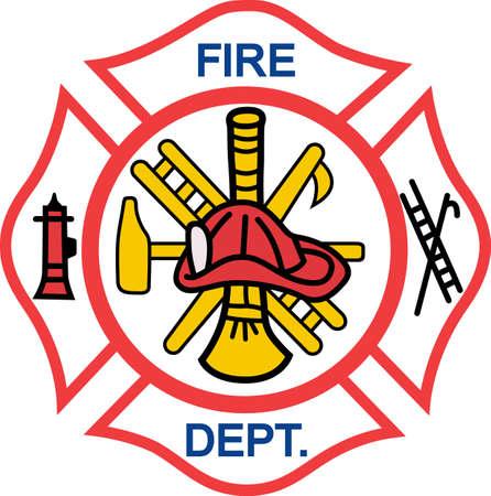 fogatas: Los bomberos trabajan duro todos los días a arriesgar su vida por los demás. Vectores
