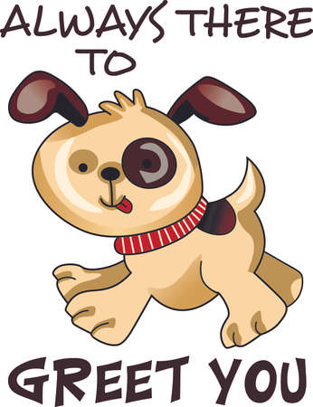 Send your friends this cute dog! Its sure to bring a smile!