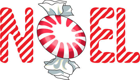 peppermint candy: Everyone loves candy for Christmas!  Perfect idea for favors.  They will love this cute design of peppermint! Illustration
