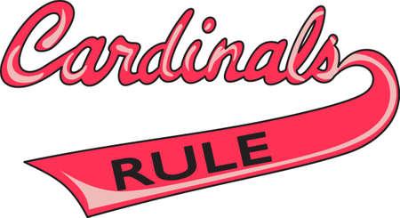 team sports: Muestre su espíritu de equipo con este logotipo Cardenales. Todo el mundo va a encantar.