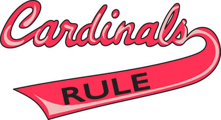 Show your team spirit with this Cardinals logo. Everyone will love it.