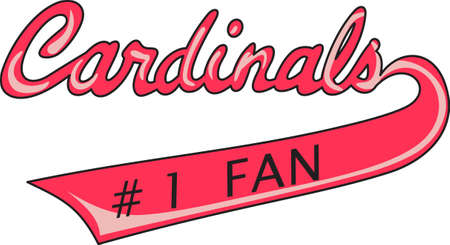 love is it: Show your team spirit with this Cardinals logo.  Everyone will love it.