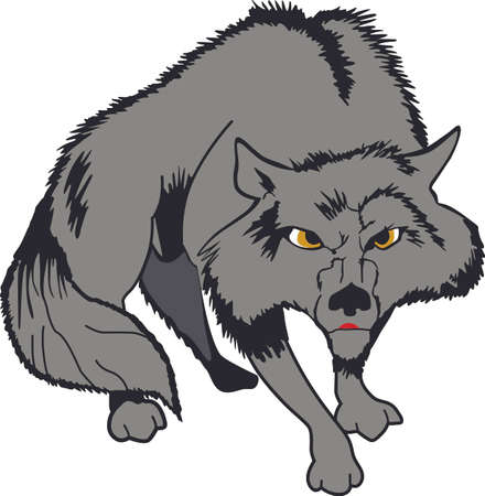 The strength of the wolf is the pack and the strength of the pack is the wolf. Иллюстрация