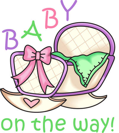 Planning a baby shower will not be complete without this adorable design.