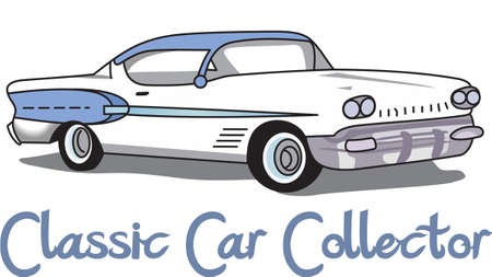 car show: The car is an American classic.  Take this design to the next car show.  He will love it.