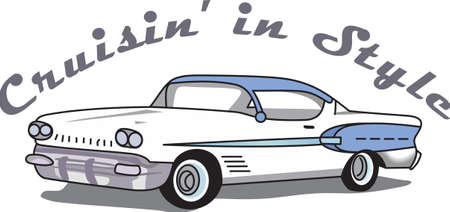 cruising: The car is an American classic.   Illustration