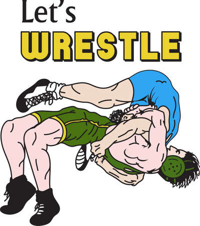 wrestle: Wrestling is a very active sport taking years to master.