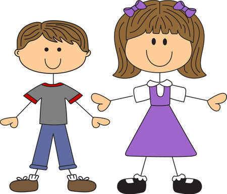 This cute cartoon family is perfect to add to your designing fun.  イラスト・ベクター素材