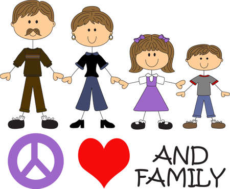 designing: This cute cartoon family is perfect to add to your designing fun.  A fun design by Great Notions.