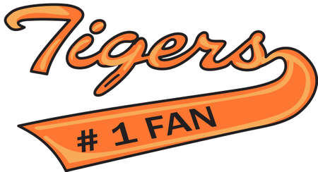 nfl football: Time to cheer for the team with this Tigers mascot design.  A perfect design for all the fans from Great Notions. Illustration