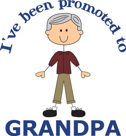 Eindelijk een grootvader! Trots op het leren zal hij opa, gebruik dit ontwerp om hen te vertellen het goede nieuws. Breng wat zoete inspiratie met dit ontwerp.