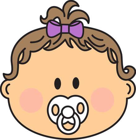 dar un regalo: Celebre este maravilloso evento y dar un regalo para el beb�! Los orgullosos padres les encantar� art�culos que son especiales para su ni�a. Vectores
