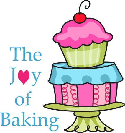 ケーキを飾るためにあなたの才能をあなたのプライドを表示します。 その完璧な広告。 皆はそれらを愛する!  イラスト・ベクター素材