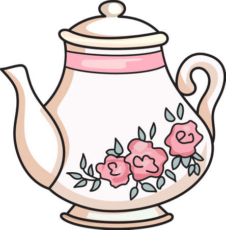 Its time for tea  to solve everything.  Give this to someone who needs cheering up.  They will love it! 向量圖像