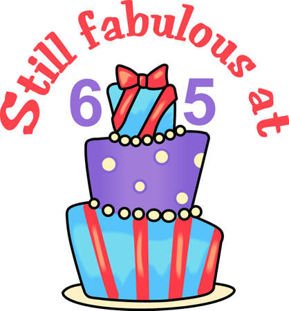 65 years old: Still fabulous at 65 years old.  A fun design from Great Notions.