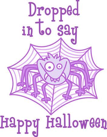 Dit leuke Halloween griezelige spin is een perfecte traktatie. Geef het aan een kind voor hun gift van Halloween. Zij zullen love it! Stock Illustratie