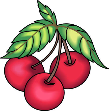 drupe: A stem of cherries design is perfect for your kitchen.  Get these designs from Great Notions.