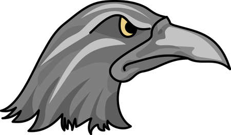 fowls: Show your team spirit with this Ravens logo.  Everyone will love it! Illustration